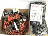 Power drills, extension cords, screwdrivers