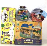 (4 Pc) Children's Puzzles, Parachute & Candy Tins