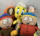 (5 Pc) South Park, Disney & Tweety Bird Plushes