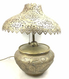 Egyptian Style Tin Punched Table Lamp