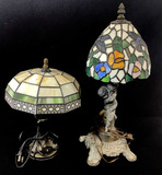 Vintage Pair Of Tiffany Style Table Lamps