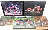 (5pc) Decorative Motorcycle Photographs