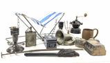Vintage Assorted Decor, Bell, Flask, Miller Mug