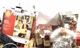 Assorted Christmas Decorations, Lights, Figures