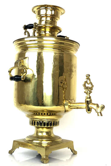 19th C Batashev Tula Imperial Russia Brass Samovar