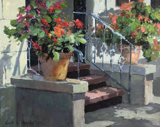 """Kent Wallis (b1945) """" Decorative Entry """""""