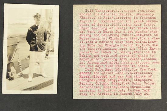 1923-1925 Asian Scrapbook From American Teacher