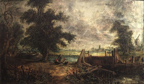 Attributed John Constable (1776-1837) Oil Painting
