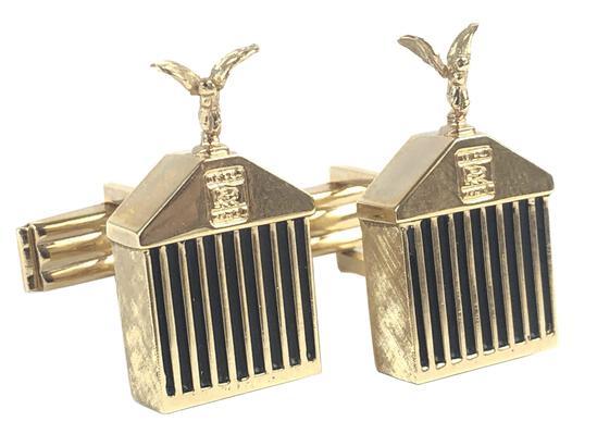 Vintage 14k Gold Rolls Royce Grill Cuff Links