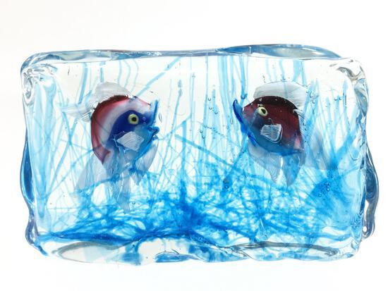 Vintage Murano Cenedese Verti Art Glass Aquarium