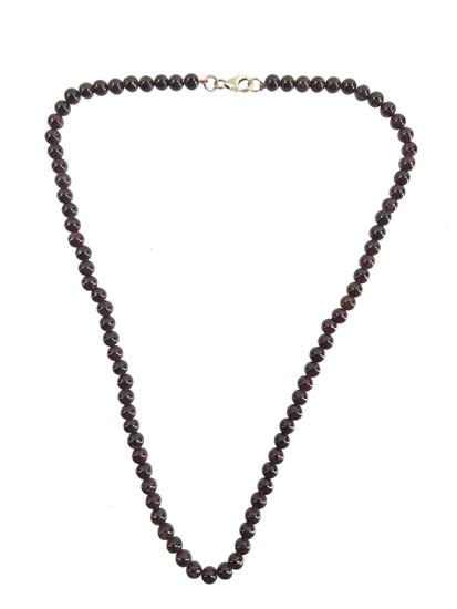 Sterling & Tanzanite Beaded Necklace