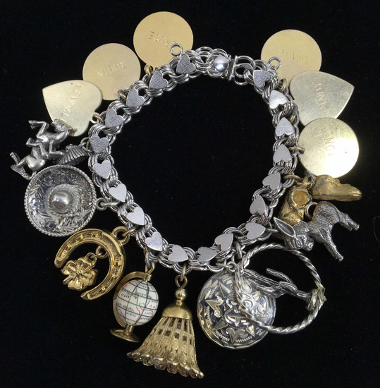 Sterling Silver & Gold Filled Charm Bracelet