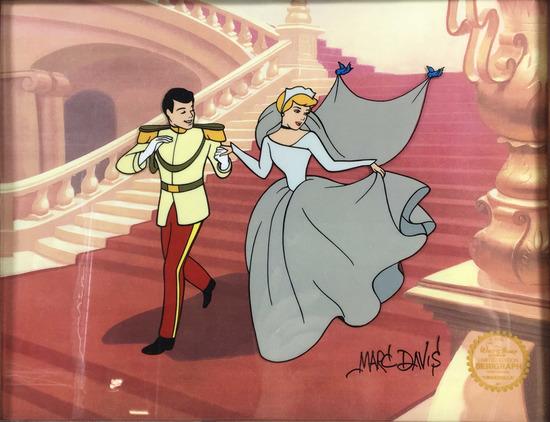 Marc Davis Autographed Cinderella Serigraph