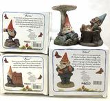 (5pc) Enesco Garden Gnome Figures