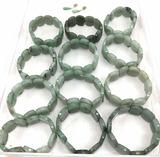 (13pc) Jade Stone Bracelets & Earrings