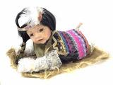 Vintage Cathay Porcelain Native Indian Doll