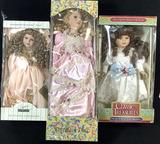 (3pc) Assorted Vintage Porcelain Dolls