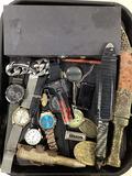 Vintage Men's Wrist Watches, Knives, Pen