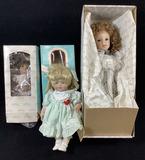 (3pc) Vintage Porcelain Dolls