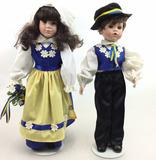 Pair Of Porcelain Composite Dolls