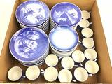 (40+) Porcelain Royal Copenhagen Saucers, Teacups