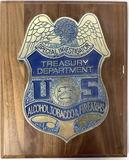 Special Investigator, Treasury Department Plaque