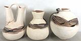 (3pc) Southwestern Style Pottery Vases