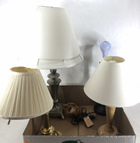 Group Of 4 Home Decor Table Lamps