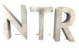 Assorted Metal Store Front Letters, Sign