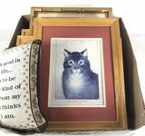 Large Assortment Of Cat Prints