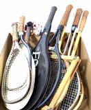 Assorted Rackets, Wooden Chess Set, Bell Helmet