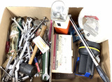 Assorted Tools, Wrenches, Flashlight, Screwdriver