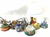 Walt Disney Winnie The Pooh Lamp, Snow Globes