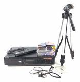Sony Minidisc Deck, Walkman, Tripod, Blank Discs