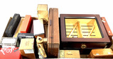 Assorted Cigar Boxes, Cases, Chests