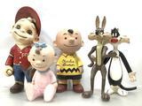 (5 Pc) Vintage Charlie Brown Ceramic Figures