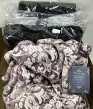 (4 Pc) Home & Main Velvet Throw Blankets
