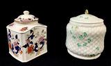 Antique English Biscuit, Tea Jars