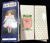 (2pc) Assorted Vintage Porcelain Dolls & Clothes