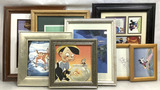 (8 Pc) Disney Framed Lithograph & Prints