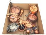 Vintage Copper Teapots, Molds, Pans, Baskets