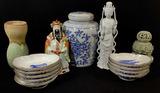 Vintage Porcelain Vases, Figures, Plates