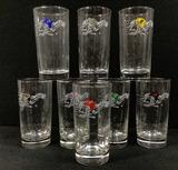 (8 Pc) Vtg. Libbey Greyhound Dog Racing Glasses