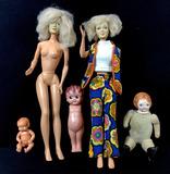 (5pc) Vintage Vinyl Dolls, Hard Plastic