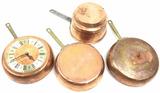 (4) Vintage Copper & Brass Pots