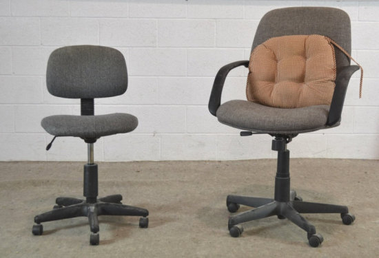 Office Chair on Casters Pair