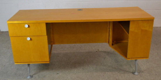 National Wood & Metal Modern Office Desk