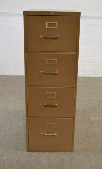 Griggs Beige 4 Drawer Metal Filing Cabinet