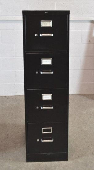 HON 4 Drawer Black Metal Filing Cabinet