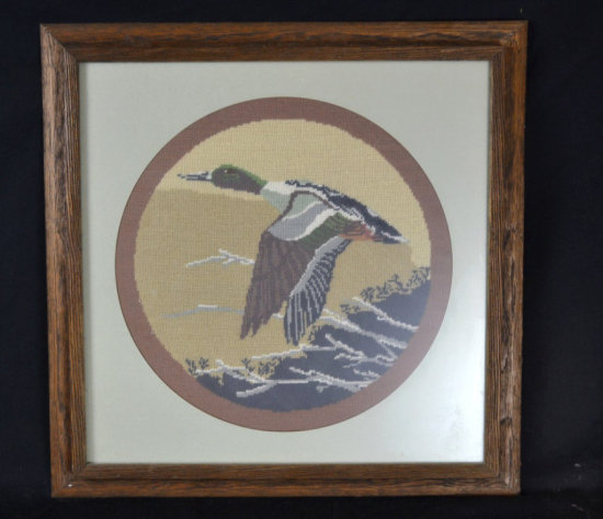 Wall Decor, Stitched Flying Duck